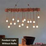 New Vintage Metal Wooden Industrial Hanging Ceiling Lamp Chandelier Pendant Lights