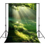 New 5x7FT Vinyl Forest Sunshine Photography Backdrop Background Studio Prop
