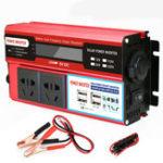New 5000W Peak DC 12V/24V to AC 110V Power Inverter Digital Modified Sine Wave 4 USB Port 2 Sockets