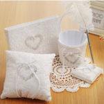 New 4Pcs/Set Square Ring Pillow Rhinestone Diamond For Wedding Party Decorations