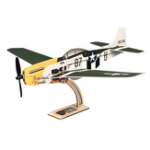 New MinimumRC P-51 Mustang 4CH 360mm Wingspan RC Airplane Fixed Wing KIT/PNP