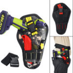New Heavy Duty Cordless Drill Holster Tool Belt Pouch Waist Pocket Tool Storage Bag