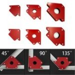 New 6Pcs Magnetic Welding Locator Set Holders 25lb 50lb 75lb Multi Angles Tool