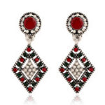 New African Hallow Rhineston Ear Drop Earring