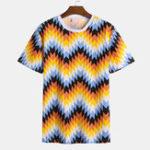 New Mens Summer Soft Loose Printed Funny T-shirts