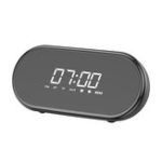 New Baseus E09 Wireless bluetooth Speaker HiFi Dual Units Dual Alarm Clock LED Display Light FM Radio TF Card Speaker with Mic