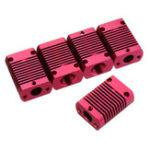 New 5Pcs 27*20*12mm Aluminum Cooling Heatsink Radiator Block for CR-10 Series/ Ender-3 3D Printer MK10 Extruder