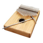 New 17 Keys Bamboo Thumb Piano Finger Percussion Kalimba With Tuning Hammer