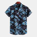 New Mens Summer Vacation Floral Printing Hawaiian Shirts