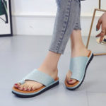 New Large Size Bling Sole Clip Toe Flat Sandals