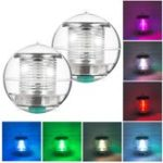 New Solar Powered Colorful Water Floating Ball Lamp LED Outdoor Underwater Light for Yard Pond Garden Pool Decoration Light