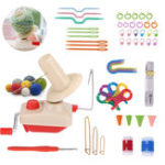 New Winding String Machine Ruler Crochet Needle Wool Bobbin Buckle Counting Ring DIY Knitting Tools Kit