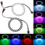 New DC5V 24 Bits Pixel Ring Individually Addressable Round DIY WS2812B 5050 RGB LED Module Strip