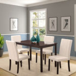 New 5 PCS/1 Set Dining Table and Upholstered Chairs Dining Set Tableware