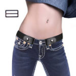 New Fashion Women Adjustable No Buckle Stretch Belt