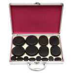 New 16Pcs SPA Massager Accessories Skin Relief Therapy Hot Rock Basalt Stones Set Heating Box
