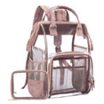 New Women Fashion Waterproof PVC 2 PCS Backpack