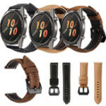 New Bakeey Genuine Leather Strap Scrub Watch Band for Huawei GT Active Smart Watch