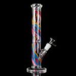 New Smoke H-ookah Water Glass B-ong Joint T-obacco Pipe Glassware 30cm