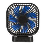 New Mini Portable 3-Speed USB Timing Desk Fan 5000mAh Battery Rechargeable Fan-Blue/Black Fan Blade