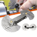 New 52 Blades Metric Whitworth 55°/60° Screw Pitch Thread Measuring Gauge Checker