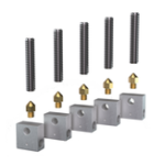 New Anet® 5Pcs Teflon Throat Tube + 5Pcs 0.4mm Nozzle + 5Pcs Aluminium Heating Block 3D Printer Part Set