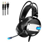 New A10 Wired Gaming Headset Bass Noise Cancelling 7.1 Channel Headphone Over-ear With Mic LED Light for PC Computer