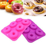 New 2pcs Donut Bagel Silicone Mold Cake Cookie Cheesecake Baking Non-Stick Mould