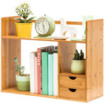 New Table Desktop Storage Rack Board Display Desk Shelf Organizer Counter Bookcase Bookshelf