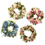 New Artificial Flowers Garland European Lintel Wall Decorative Flower Door Wreath for Wedding Home Christmas Decoration
