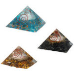 New Natural Pyramid Crystals Gemstone Meditation Yoga Healing Energy Stone 70-75mm