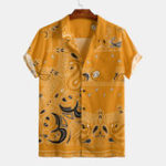New Mens Summer Funny Printed Short SLeeve Casual Shirts