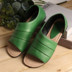 New Women Casual Summer Open Toe Slip On Sandals