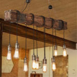 New Vintage Wood Industrial Pendant Lamp Hanging Ceiling Light Rustic Chandelier