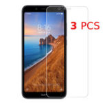 New Bakee 3PCS Anti-explosion HD Clear Tempered Glass Screen Protector for Xiaomi Redmi 7A