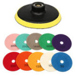 New 11pcs Diamond Polishing Pad 4 Inch Grinder Disc for Granite Marble Concrete Stone