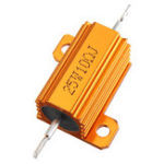 New 5pcs RX24 25W 10R 10RJ Metal Aluminum Case High Power Resistor Golden Metal Shell Case Heatsink Resistance Resistor