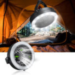 New 2-in-1 12 LED Camping Lights Fan Lantern Lamp Flashlight Ceiling Fan Outdoor Fun-Battery Style