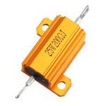 New 3pcs RX24 25W 200R 200RJ Metal Aluminum Case High Power Resistor Golden Metal Shell Case Heatsink Resistance Resistor