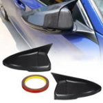 New 2PCS Carbon Fiber Car Mirror Caps Cover For Honda Accord 2018