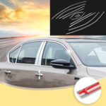New Exterior Chrome Moulding Car Styling Stainless steel Top Bottom Window Trim Strip Cover  For Skoda Octavia A7 2015-2017