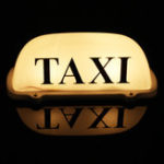 New Taxi Magnetic Base Yellow LED Cab Taximeter Roof Top Sign Light Lamp White Box