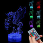 New  3D Visual Night Light LED Touch Remote Control Gift Home Party Decor USB Table Lamp