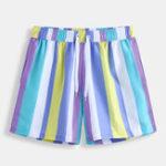 New Mens Holiday Colorful Beach Stripe Hawaiian Casual Shorts