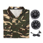 New Air Conditioning Wind Jacket Cool Conditioned Fan Work Staff Camouflage USB Line Summer Heatstroke Cooling Fan Service Agriculture Busy Workwear