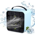 New 3 Speeds USB Electric Air Cooler Fan Mini Negative Ion Air Conditioning Fan Air Purification Humidification