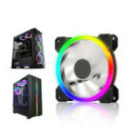 New 12CM 6 Pin 12 Modes Adjustable Colorful RGB LED Silent Computer Case Cooling Fan for PC Computer Case