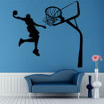New Removable Basketball Dunk Sport DIY Wall Sticker Kids Room Art Decor Decals