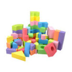 New 50Pcs Soft Lightweight EVA Foam Assembled Bricks DIY Model Creative Building Blocks Kids Educational Toys