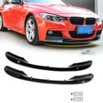 New 2pcs Front Bumper Protector Cover Lip for BMW F30 3 Series M Style 2012-2018 Front Bumper Only for Sports Version
